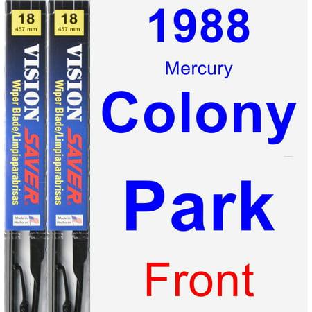 1988 Mercury Colony Park Wiper Blade Set/Kit (Front) (2 Blades) - Vision Saver