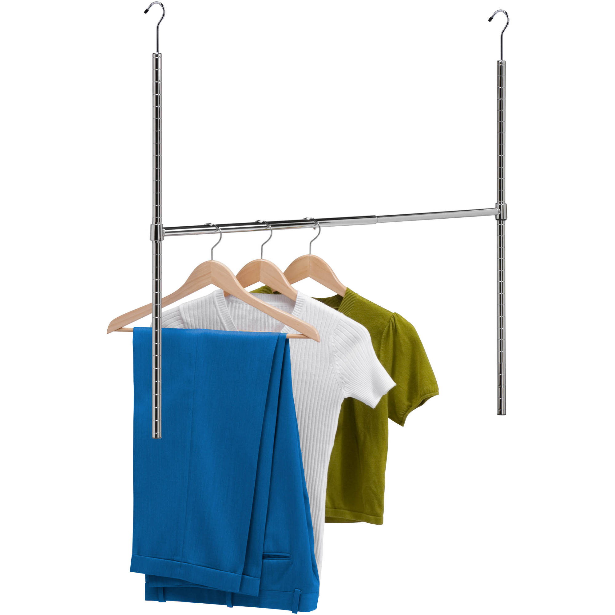 Honey Can Do Adjustable Hanging Closet Rod, Chrome