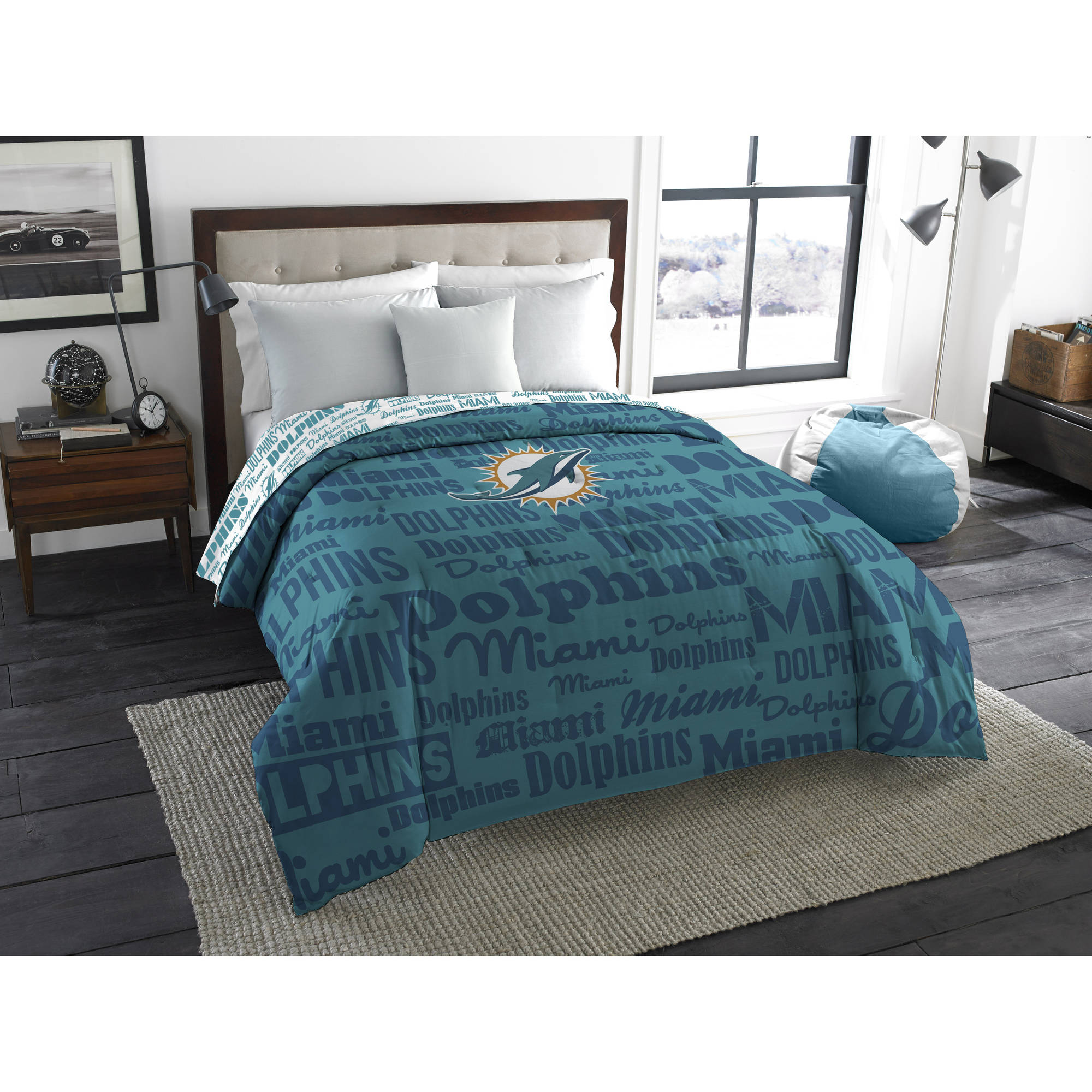 """NFL Miami Dolphins """"Anthem"""" Twin/Full Bedding Comforter"""