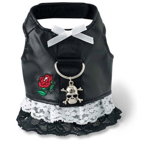 Doggles Harness Dress Biker Black Dog Dress Harness