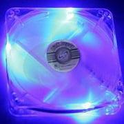 Link Depot FAN-4LED-80BU - Case fan - 80 mm - blue, crystal