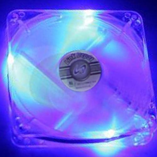 Link Depot Computer Case Power Fan FAN-4LED-80BU, White/Blue