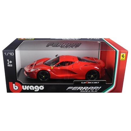 Ferrari LaFerrari F70 Red with Black Wheels 1/18 Diecast Model Car by Bburago (Black Rwd Wheels)