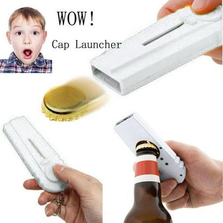 Flying Zappa Beer Drink Bottle Opener Cap Launcher Top Shooter Key Ring