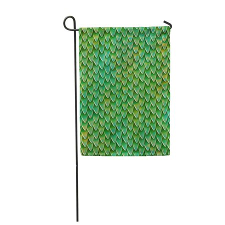 LADDKE Dragon Scales Reptile Skin Pattern Fish Shingles Roof Small Garden Flag Decorative Flag House Banner 12x18 inch ()