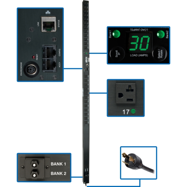 Tripp Lite PDUMV30NET 24-Outlet PDU Switched