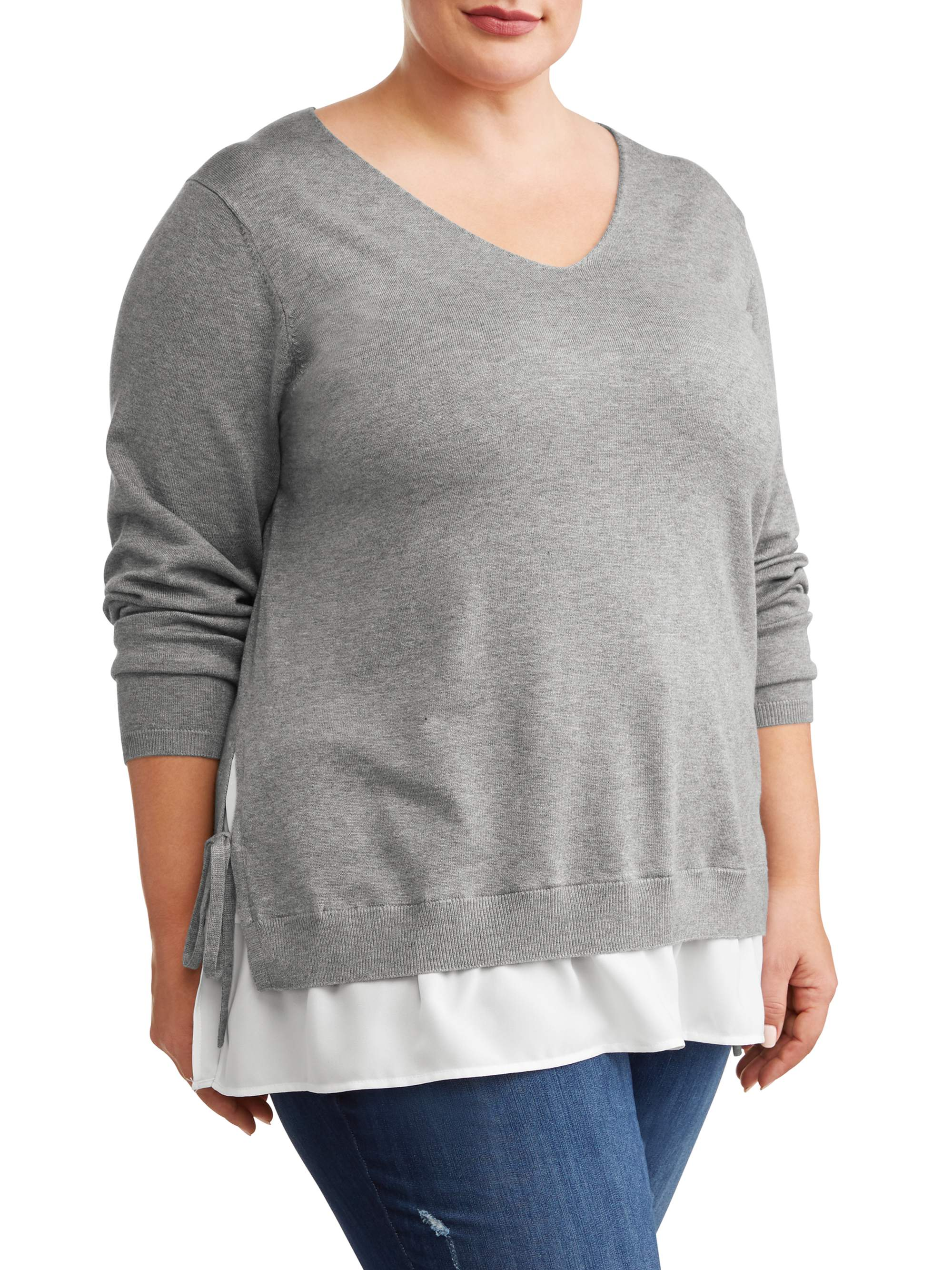 Womens Plus Size Cardigans And Sweaters Walmartcom Walmartcom