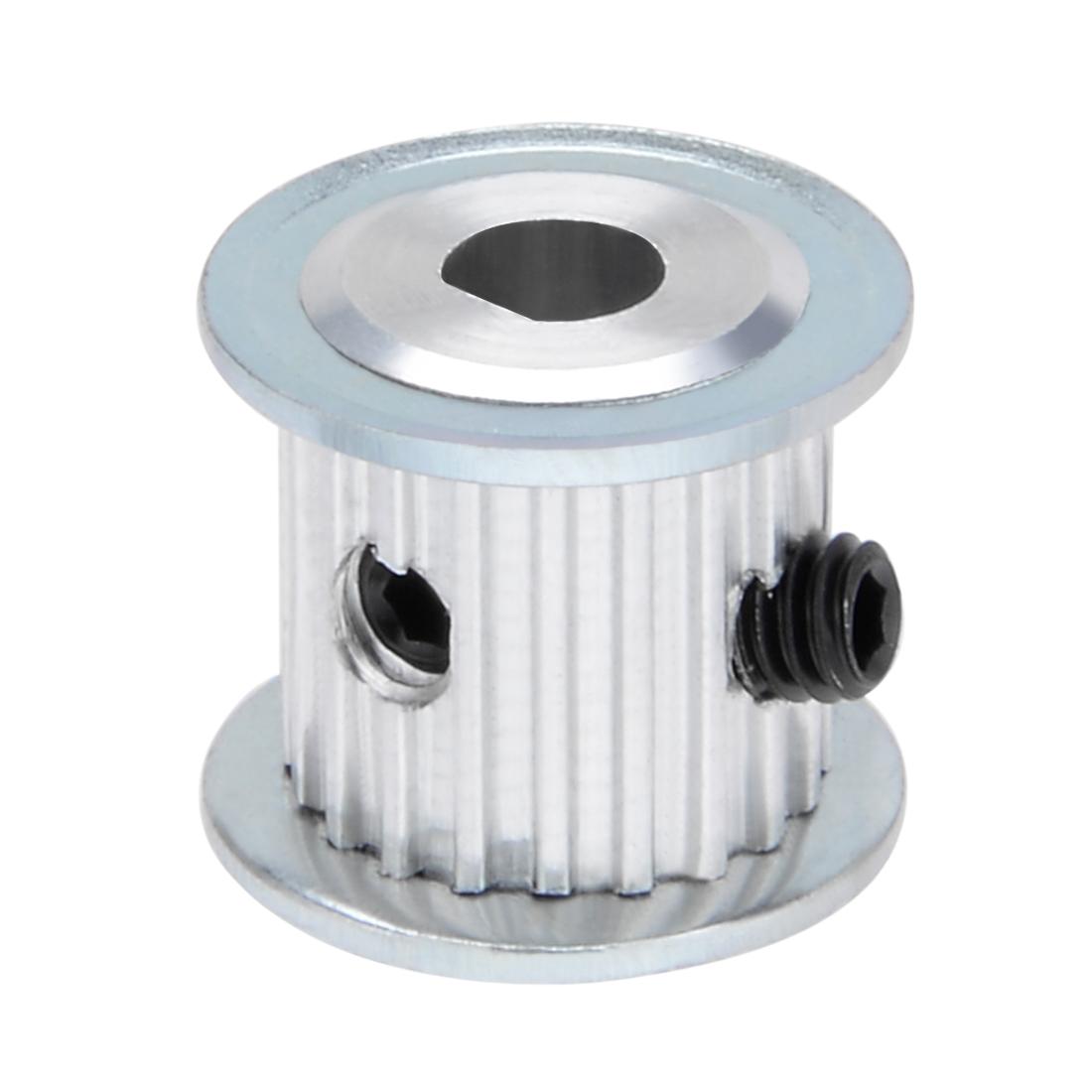 Aluminum MXL 20 Teeth 5mmx4.5mm D-Shape Bore 11mm Belt Timing Idler Pulley Wheel - image 6 of 6