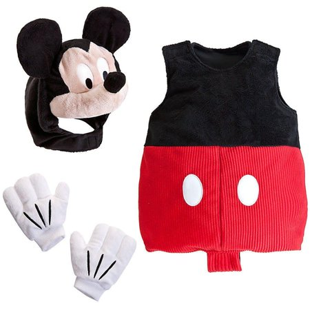 Disney Store Deluxe Mickey Mouse Plush Costume for Baby Size 12 - 18 - Baby Mickey Mouse Costume