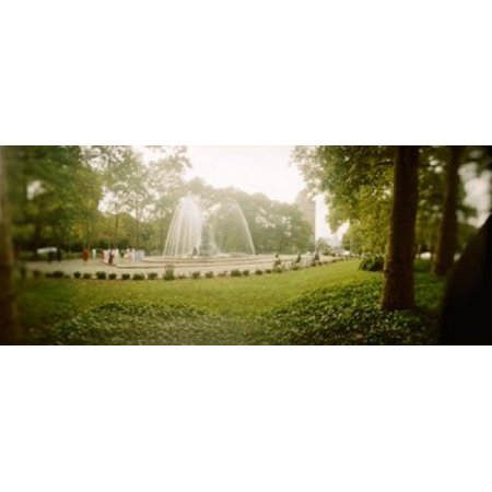 Fountain in a park Prospect Park Brooklyn New York City New York State USA Canvas Art - Panoramic Images (15 x 6)