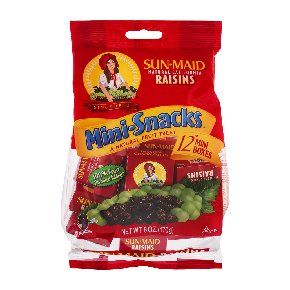 Sun-Maid Natural California Raisins Mini-Snacks - 12 CT