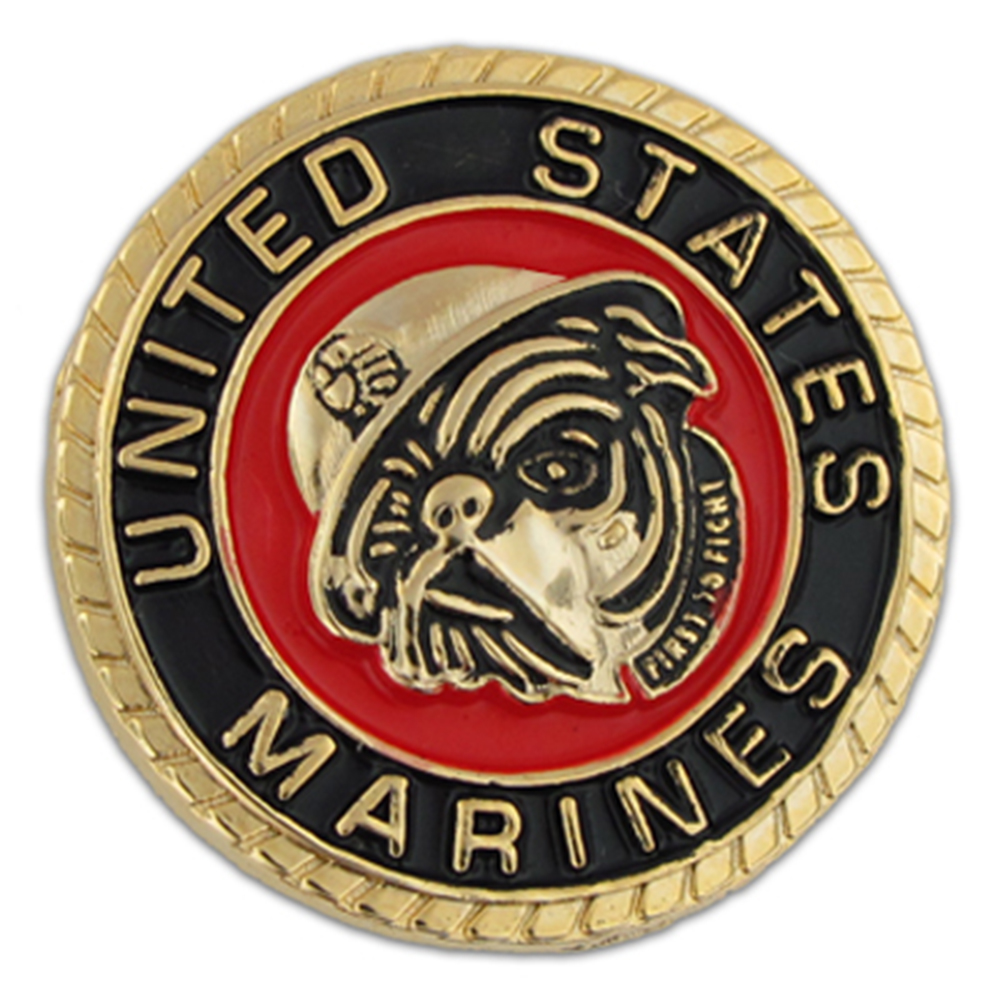 U.S. Marines Bulldog Pin - Military Lapel Pin