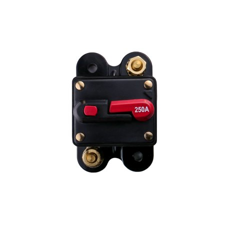 XPRESS Car Audio 250-Amp Circuit Breaker Fuse, 12 Volt Distribution Block (XP81/250A)