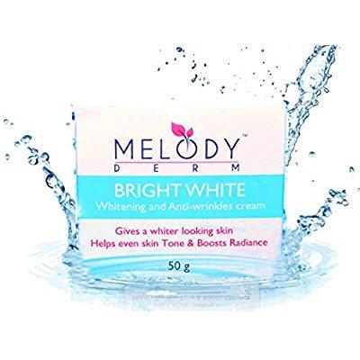 melodyderm crème blanche brillante - la meilleure crème pour blanchir et éclaircir la peau - avec de la vitamine b3 et collag