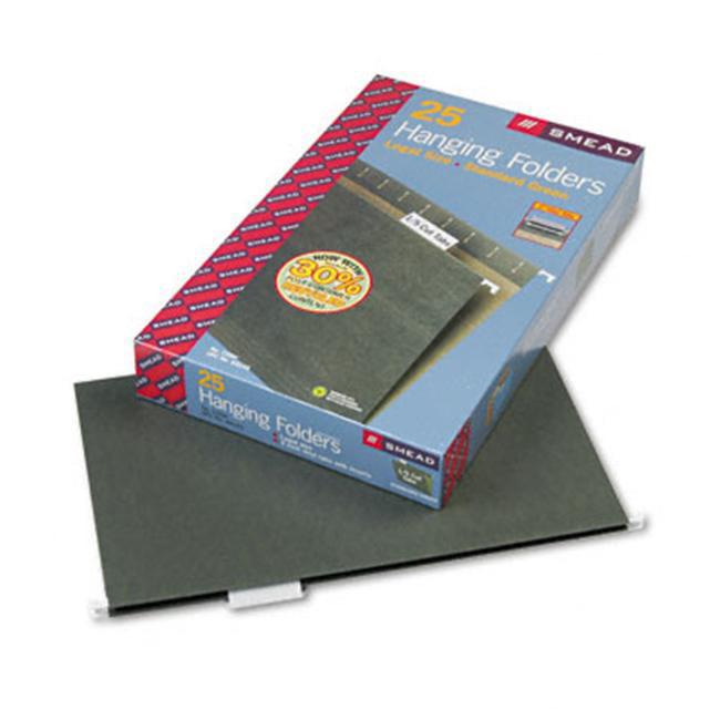 Smead 64155 Hanging Folders  1/5 Tab  11 Point Stock  Legal  Green  25 per Box
