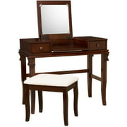Linon Angela Vanity Set including Mirror and Stool, Multiple Colors