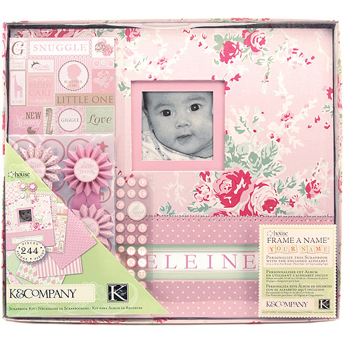 "K&Company Postbound Scrapbook Kit Boxed, 12"" x 12"", Little House Baby Girl"