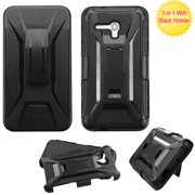 For One Touch Fierce XL Advanced Armor +Stand Cover Protector Case w/Holster