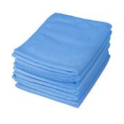 Motor Trend 8 Pack Blue Professional Microfiber Cleaning Cloth for Auto Car Polishing No-Scratch Detail Towel