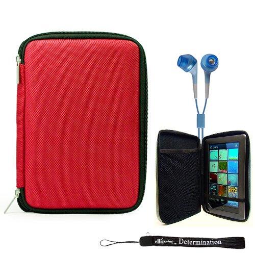 Red Slim Hard Nylon Cube Portfolio Cover Carrying Case Fo...