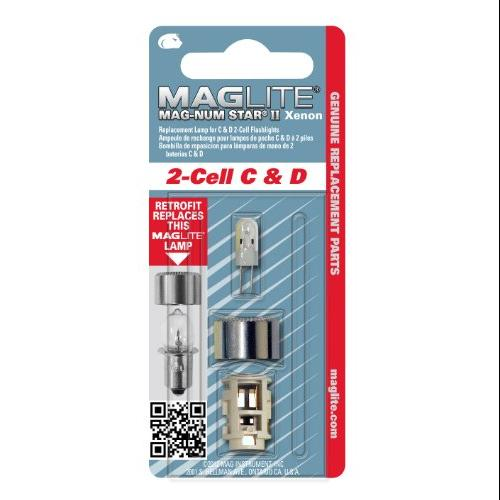Maglite Replacement Lamp for 2-Cell C or D Flashlight, 1 pk