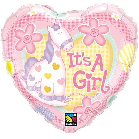 4c7e38bd90d5 Qualatex It s A Girl Baby Shower Pony Round Supra 18
