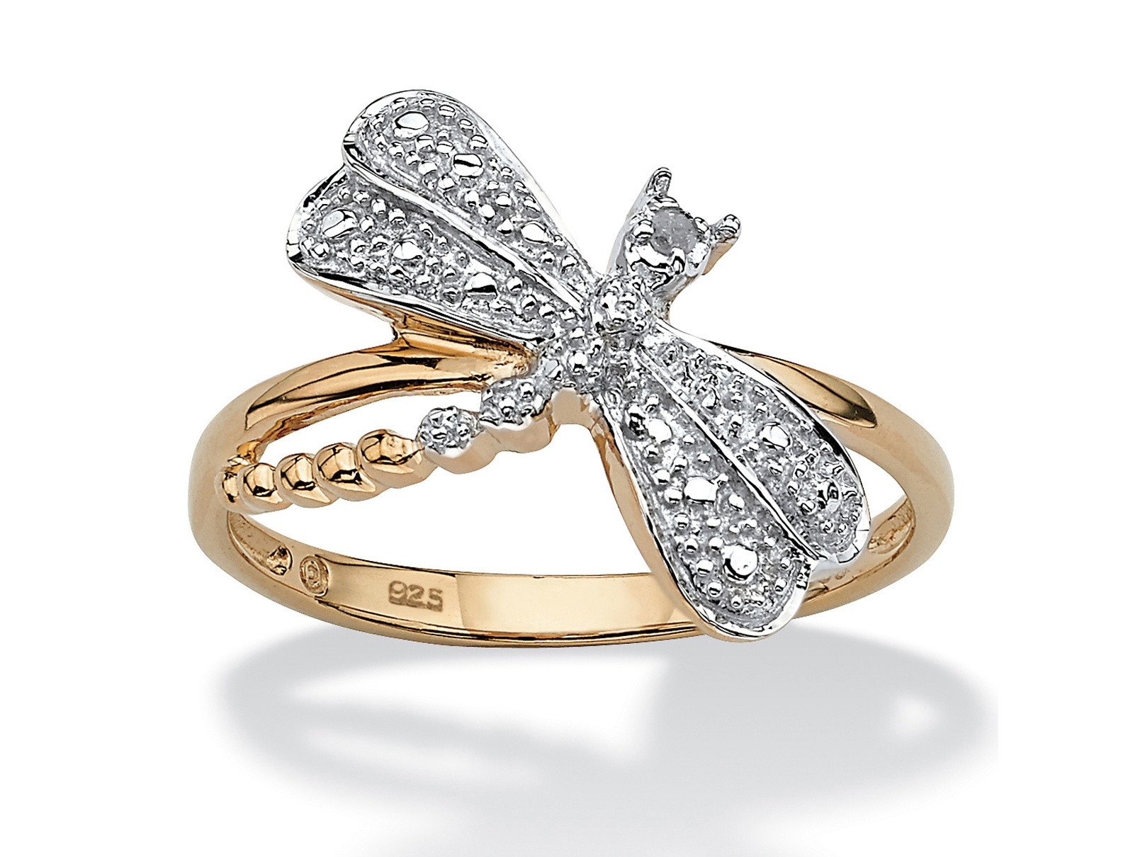 rings engagement collar diamond white halo ar dragonfly gold ring product jewelry