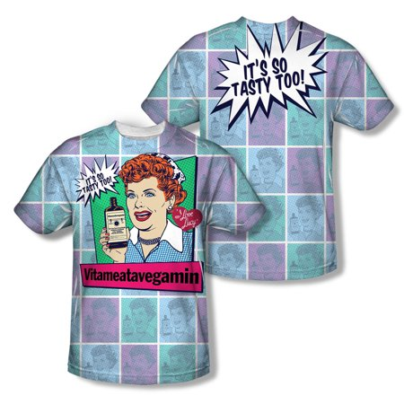 I Love Lucy Men's  All Over Vita Comic  Sublimation T-shirt Sublimate White - I Love Halloween Comics
