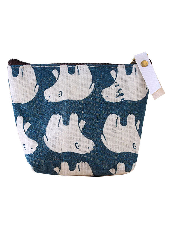 New I Love Canada Small Moose Funny Zippered Pouch with Keychain.Viva