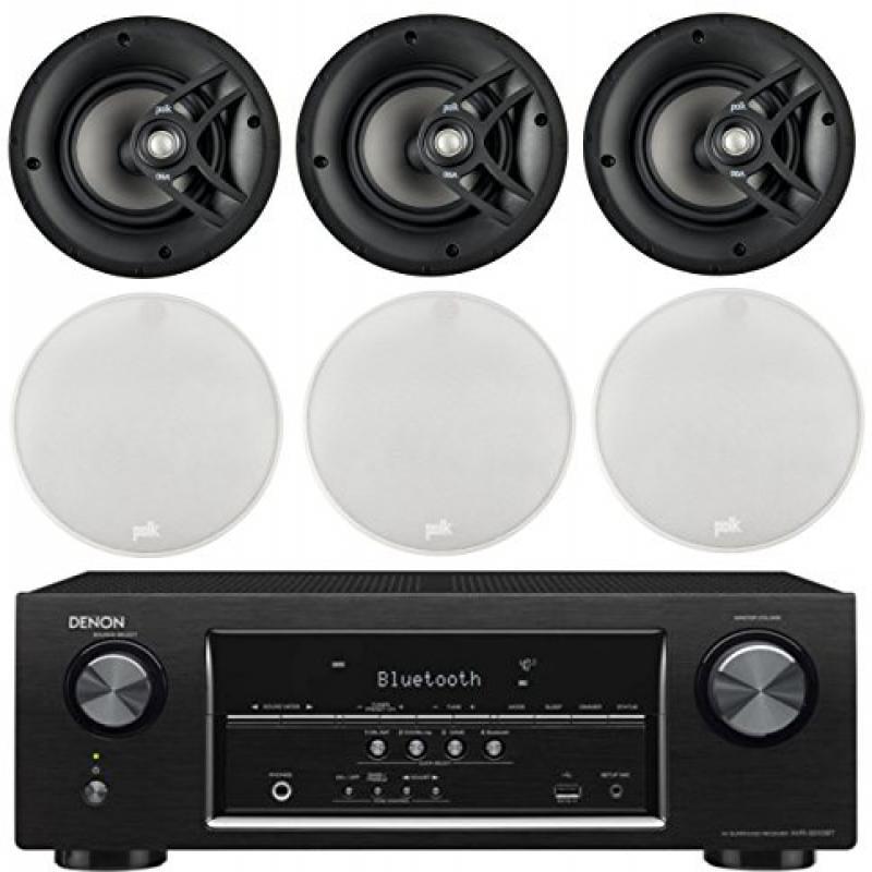 Denon 5.2 Channel 700-Watt Full 4K Ultra HD Bluetooth AV Home Theater Receiver + Polk High-Performance Natural Surround... by Polk%27s Meat