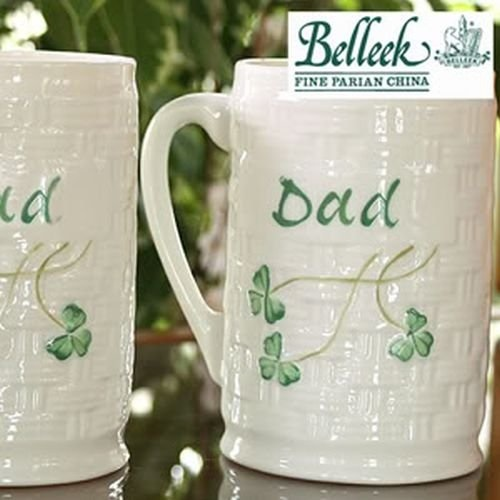 Belleek Personalized Mug Dad, 4.5""