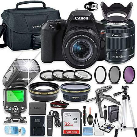 Canon EOS Rebel SL3 DSLR Camera Bundle with Canon EF-S 18-55mm STM Lens + 32GB Sandisk Memory + Canon Case + TTL Flash + Accessory