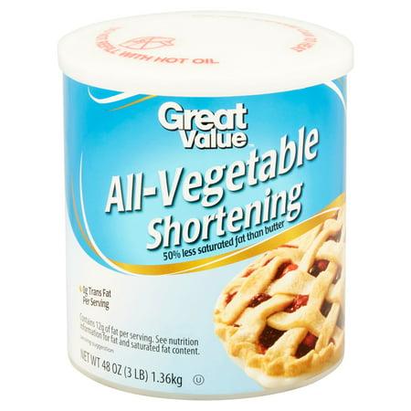 Great Value All-Vegetable Shortening, 48 oz - Best Oil ...