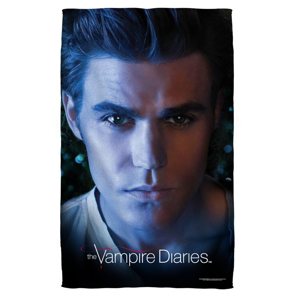 Vampire Diaries Stefan Eyes Beach Towel White 36X58