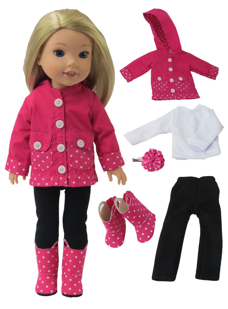 "14/"" Wellie Wishers Doll American Girl Shoes Hot Pink Accessories Clothes"