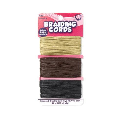 Kids Craft Hemp Cord, White/Tan/Black