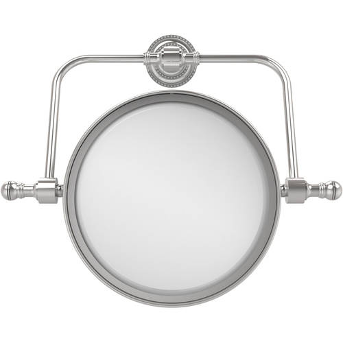 """Retro Dot Collection Wall-Mounted Swivel Make-Up Mirror, 8"""" Diameter with 2x Magnification"""