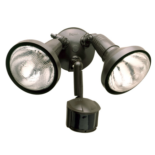 All-Pro 180-Degree Bronze Motion Activated Sensor Outdoor Security Flood Light with Lamp Cover