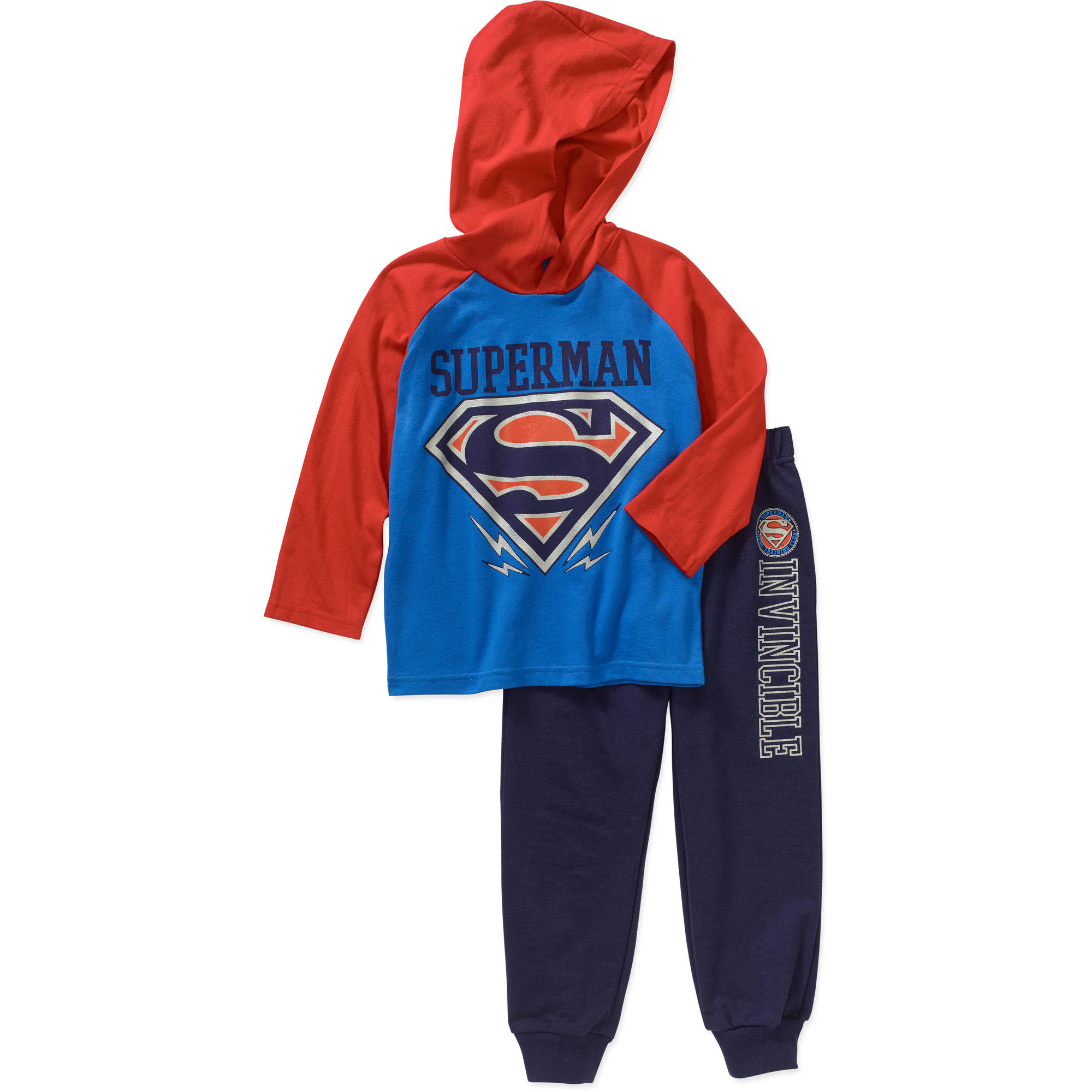 Superman Toddler Boy Hooded Tee and Pant Set