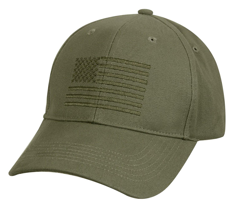 Rothco U.S. Flag Low Profile Cap - Olive Drab - Walmart.com 761b4f175b0