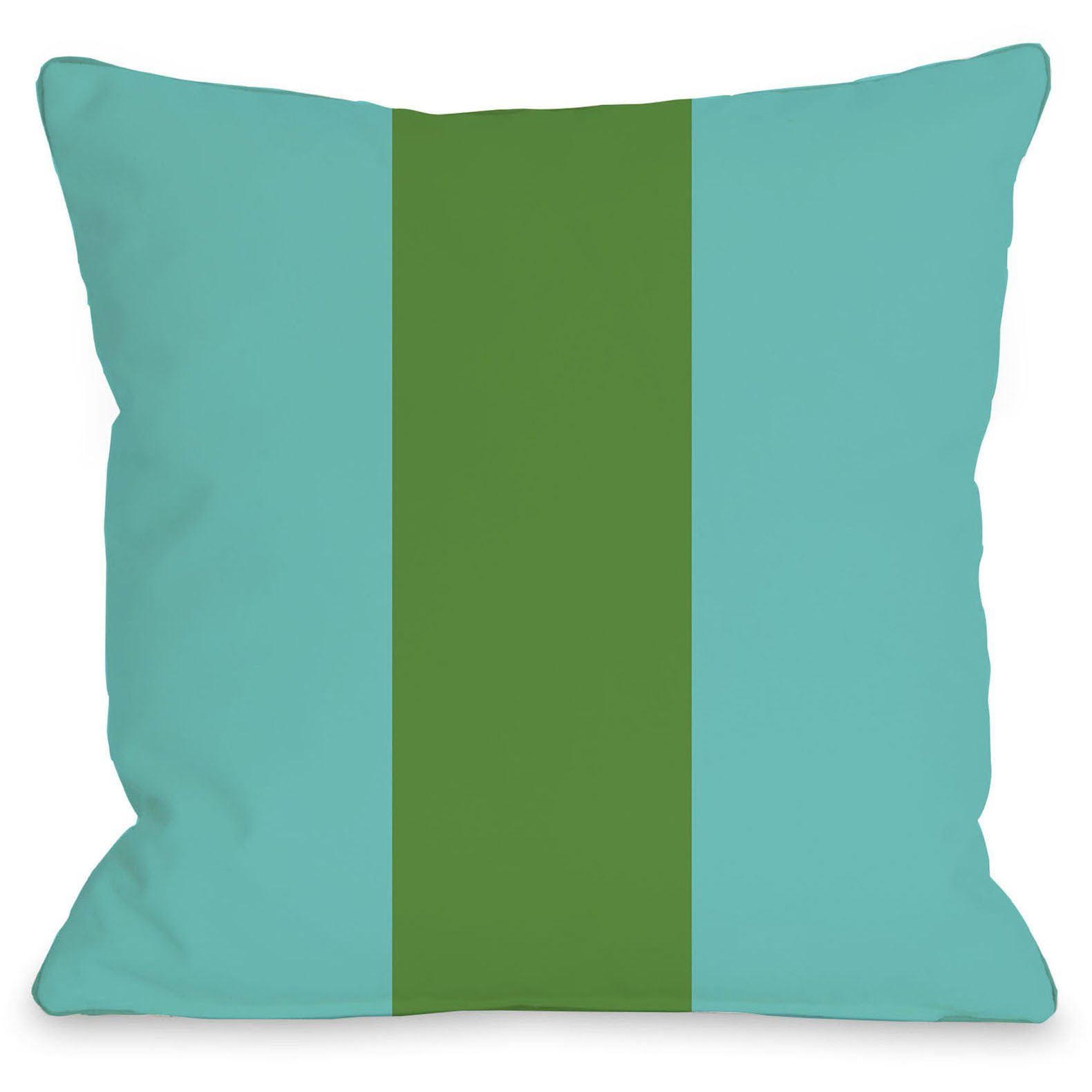 Main Line Outdoor Throw Pillow By Onebellacasa Turquoise Green 26
