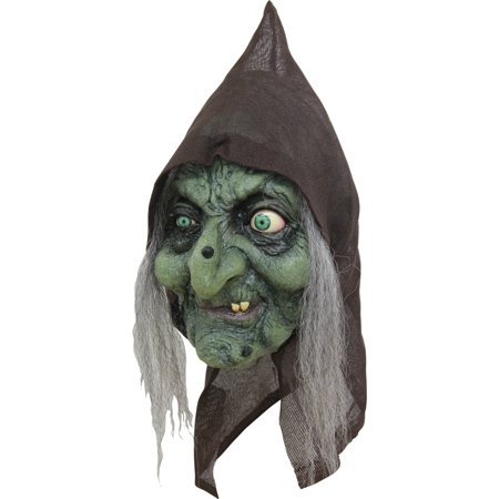Old Hag Latex Mask Adult Halloween - Old Lady Halloween Mask With Scarf