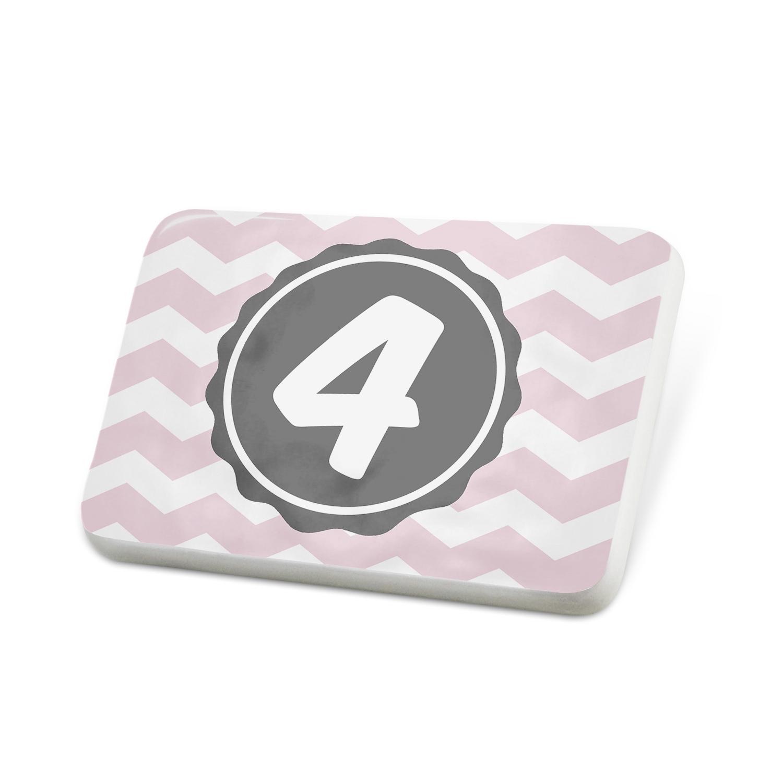 Porcelein Pin Monogram 4 Pink Grey Chevron Lapel Badge – NEONBLOND