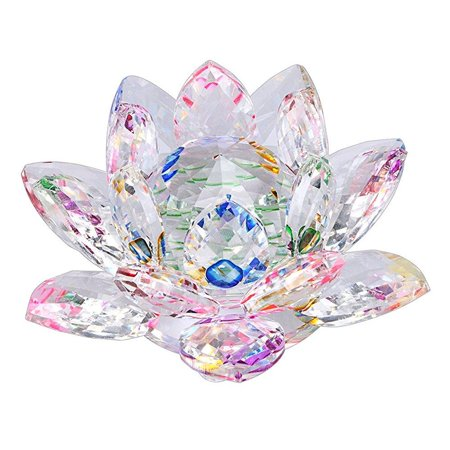 Ownmy Sparkle Crystal Lotus Flower Hue Reflection Feng Shui Home