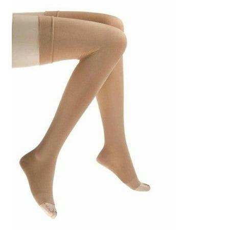 Jobst 114654 Relief 30-40 Thigh High Open Toe Beige Stockings - - Jobst Sheer Thigh Highs