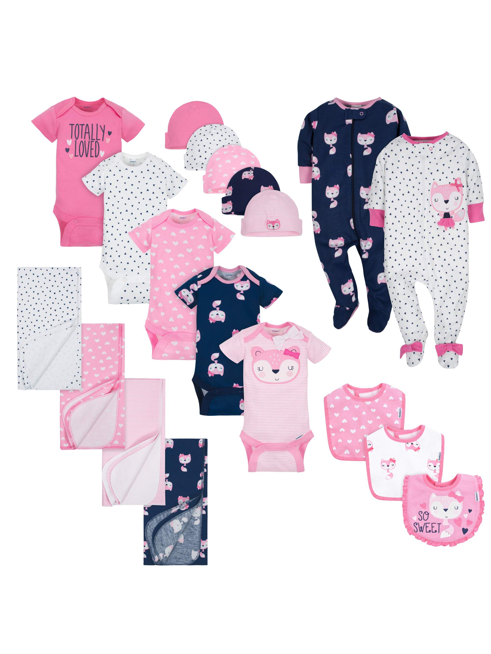 Layette Essentials Baby Shower Gift Set, 19pc (Baby Girl)