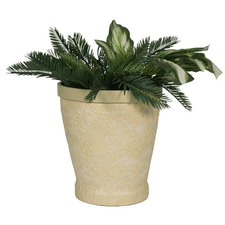 - Embossed Beige Planter, Medium