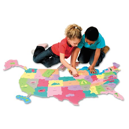 Creativity Street Wonderfoam Giant USA Puzzle Map Pieces - Giant us map