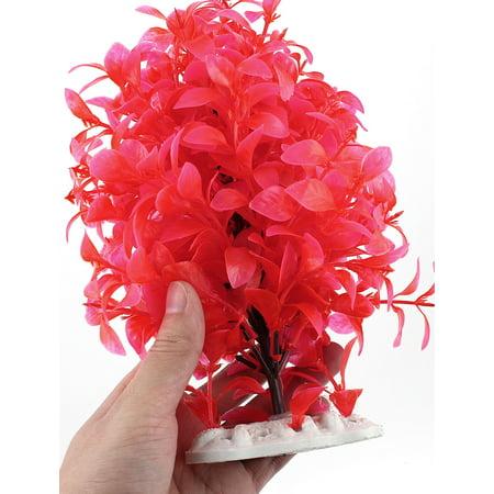 Unique Bargains Ceramic Base Emulational Aquarium Floating Plant Ornament 24cm Height Fuchsia - image 1 of 2