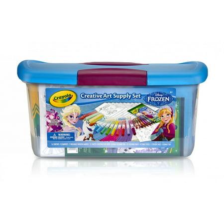 crayola disney frozen creativity tub art supplies kit over 80 pieces - Crayola Disney